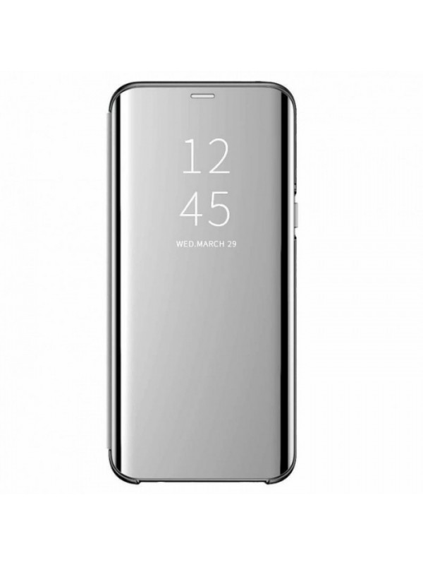 Husa Flip Cover Clear View, Samsung Galaxy S10 Plus, Argintiu