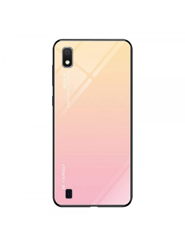 Husa Gradient Glass, Samsung Galaxy A10, Tempered Glass, Roz
