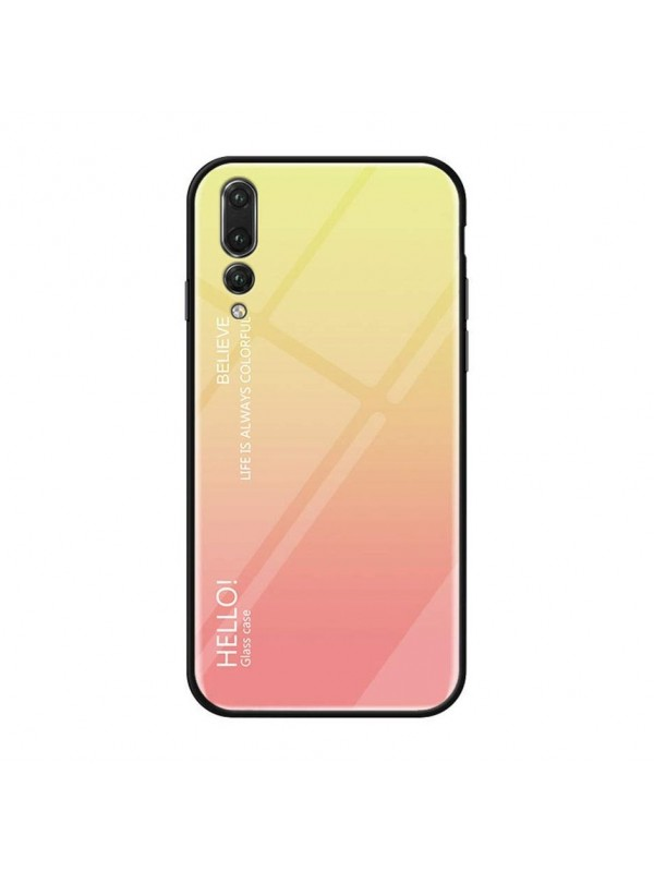 Husa Gradient Glass, Huawei P20 Pro, Tempered Glass, Roz