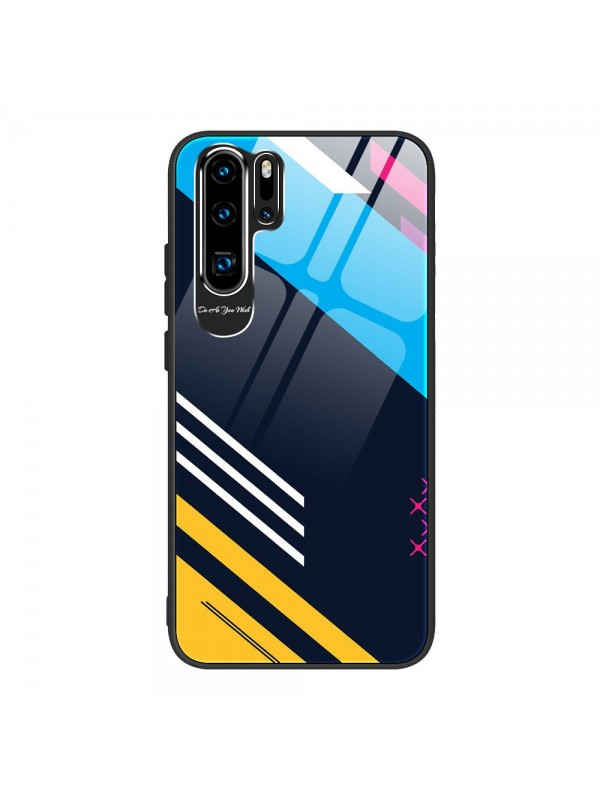Husa de protectie, Color Tempered Glass Pattern 2, iPhone X/XS, Multicolor