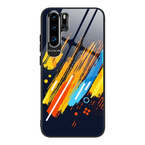 Husa de protectie, Color Tempered Glass Pattern 5, Huawei P30 Pro, Multicolor