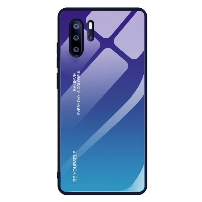 Husa Gradient Glass, Huawei P30 Pro, Tempered Glass, Verde/Mov