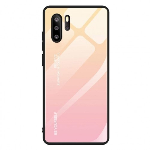 Husa Gradient Glass, Huawei P30 Pro, Tempered Glass, Roz