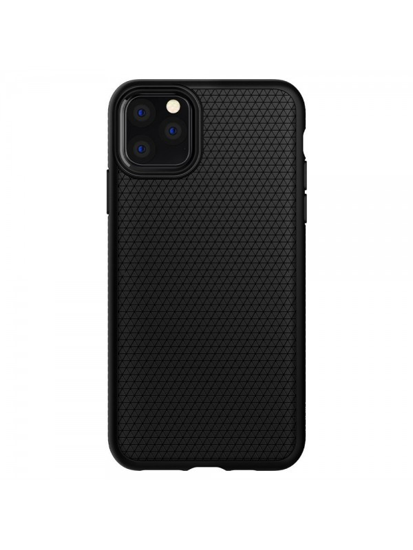 Husa iPhone 11 Pro, Spigen Liquid Air, Negru