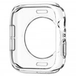 Husa Apple Watch Series 4 (44mm), Spigen Liquid Crystal, Transparent