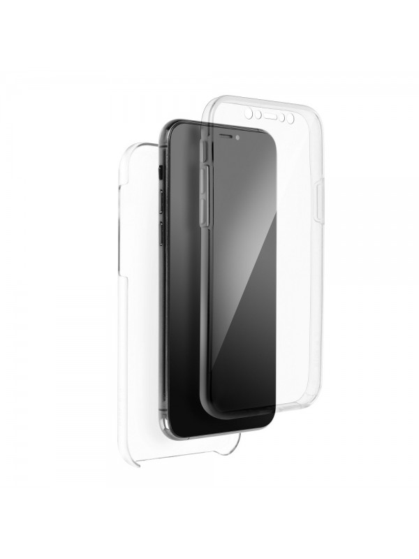 Husa de protectie 360, iPhone X/XS, Transparent