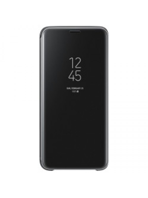 Husa Flip Cover Clear View, Samsung Galaxy J4, Negru