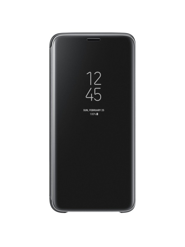 Husa Flip Cover Clear View, Samsung Galaxy A7 (2018), Negru