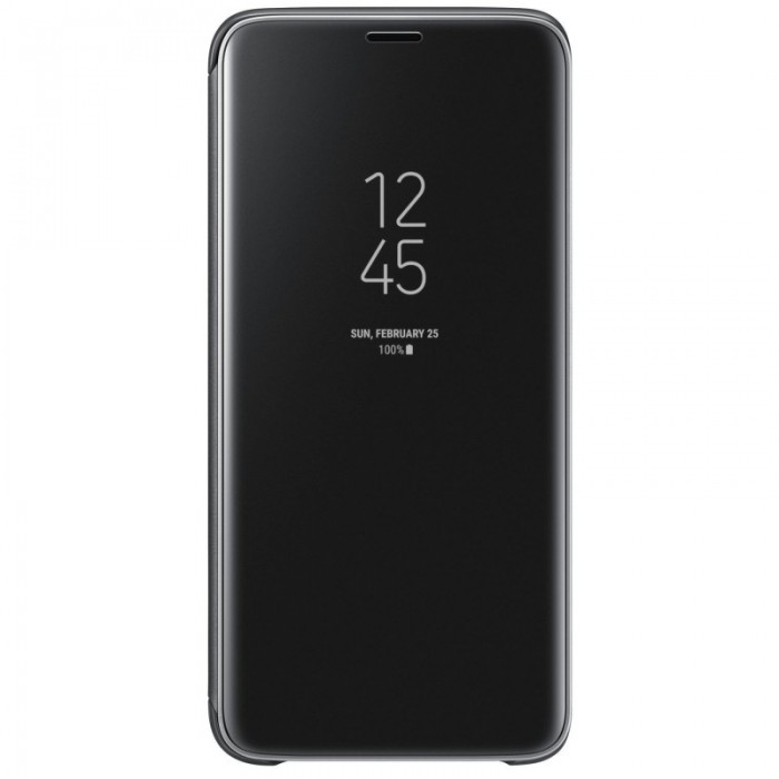 Husa Flip Cover Clear View, Samsung Galaxy A10, Negru