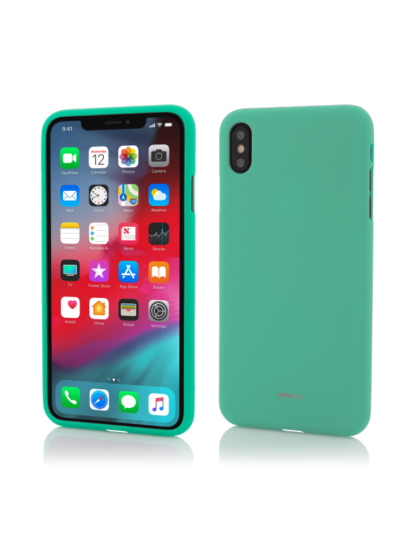 Husa Vetter GO, Soft Touch, iPhone XS Max, Verde