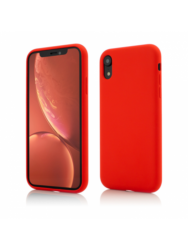 Husa Vetter GO, Clip-On Soft Touch, Silk Series, iPhone XR, Rosu
