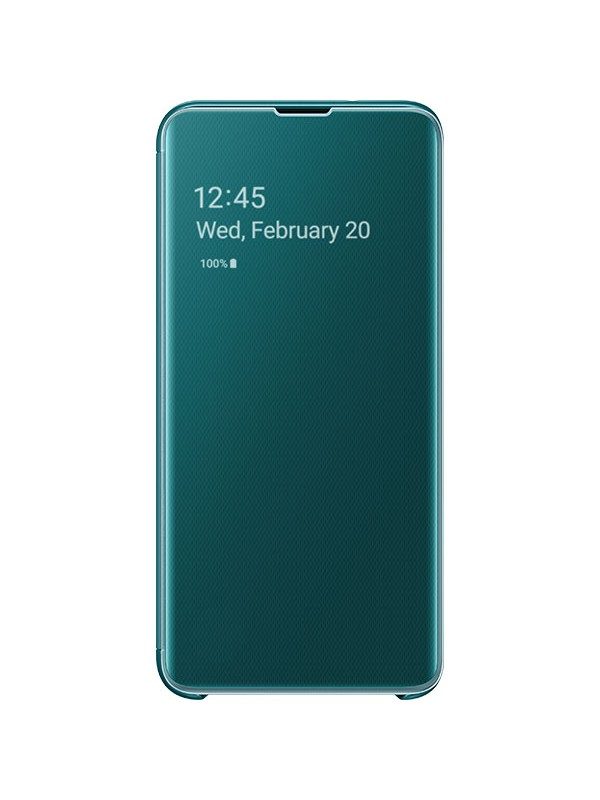 Husa Flip Cover Clear View, Samsung Galaxy S10 Plus, Turcoaz