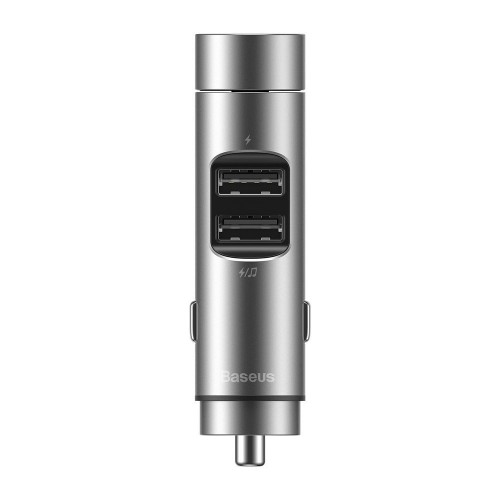 Modulator FM Baseus, Energy Column Bluetooth, 2 x USB 3.1A, Argintiu