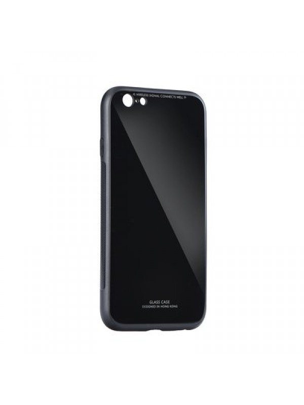 Husa Glass Case - Apple iPhone 7 / 8 Plus, Negru