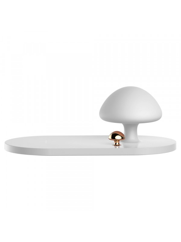 Incarcator Wireless, Baseus Mushroom, Lamp Desktop, Alb