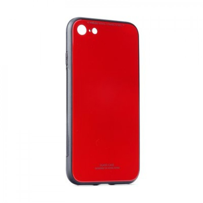 Husa Glass Case - Apple iPhone 6 / 6s, Rosu