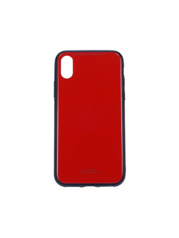 Husa Glass Case - Apple iPhone XR, Rosu