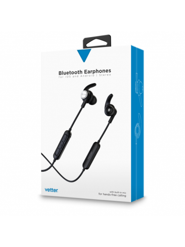 Casti Bluetooth Earphones with digital voice announcement, Handsfree,Vetter ,Negru
