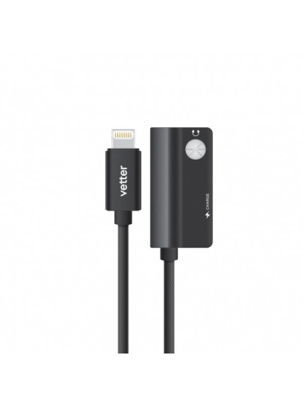 Adaptor Audio Dual Lightning iPhone,7/8/X, Audio Adapter, Charging and Music Playback,Vetter, Negru