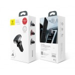 Suport Auto Baseus Privity Pro, Magnetic Air Vent, Negru, Cable Clip Holder