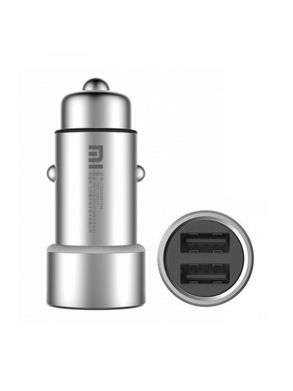 Incarcator Auto Xiaomi Quick Charge Metal 3.6A (2.4A x 2) Dual USB Car Charger, Argintiu