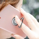 Suport telefon Inel Magnetic Baseus, Cat Ear Bing, Negru