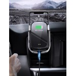 Suport Auto Baseus, Rock Smart Wireless Charger Electric, 10W Infrared Sensor, Argintiu