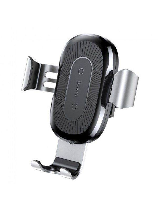 Suport Auto Baseus, Wireless Charger Gravity Car Mount, Argintiu