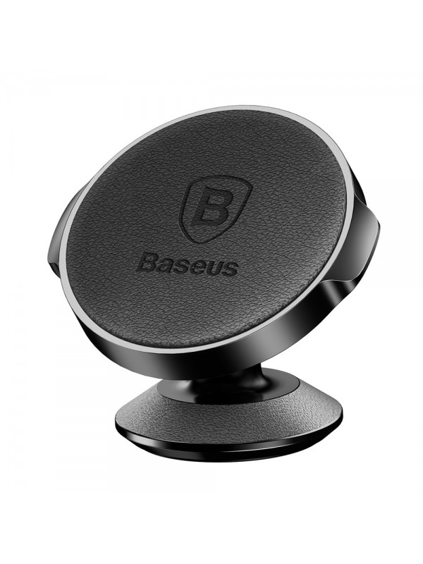 Suport Auto Baseus Magnetic, Small Ears series, Car Mount holder, din Piele, Negru