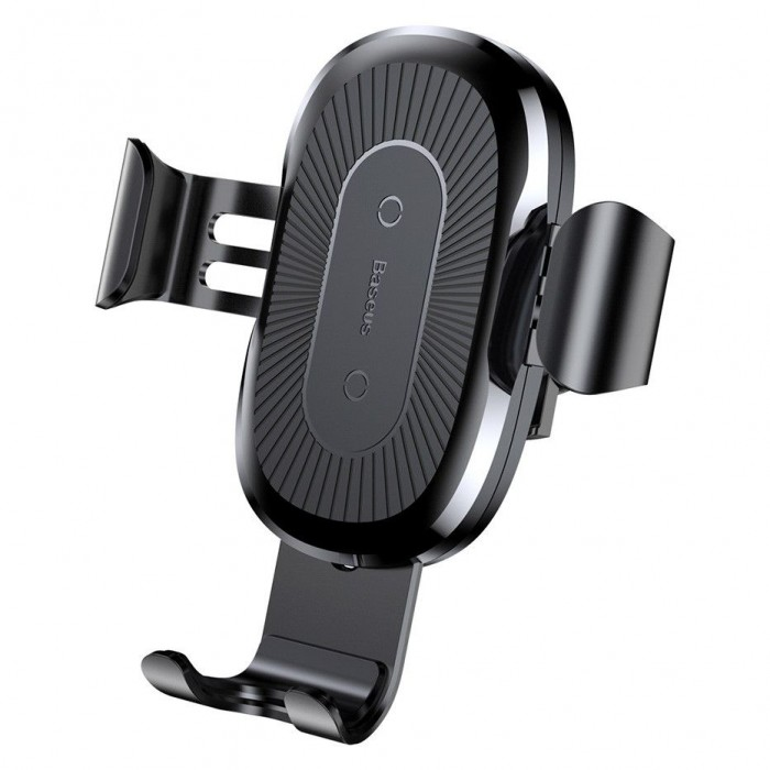 Suport Auto Baseus, Wireless Charger Gravity Car Mount, Negru