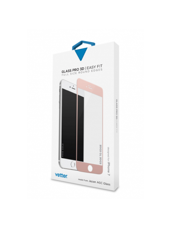iPhone 7 3D Tempered Glass Easy Fit Rose Gold