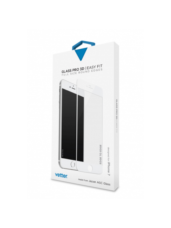 iPhone 7 3D Tempered Glass Easy Fit White