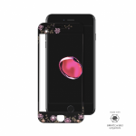 iPhone 6, 6s, 7, 8 Full Frame Tempered Glass with Swarovski Crystals Black