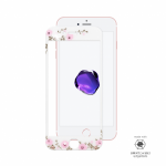 iPhone 7 Plus Full Frame Tempered Glass with Swarovski Crystals White