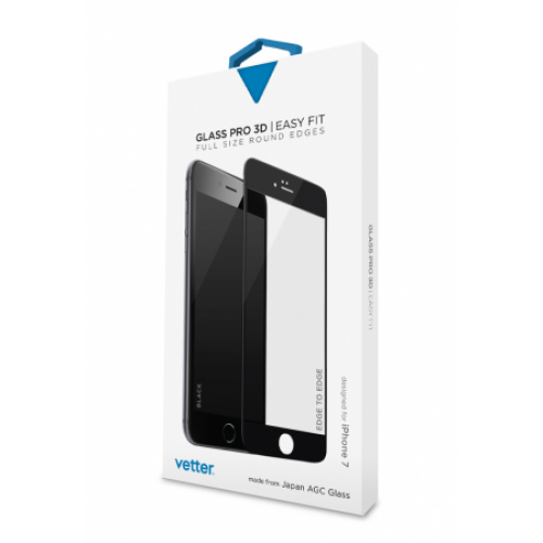 iPhone 7 3D Tempered Glass Easy Fit Black